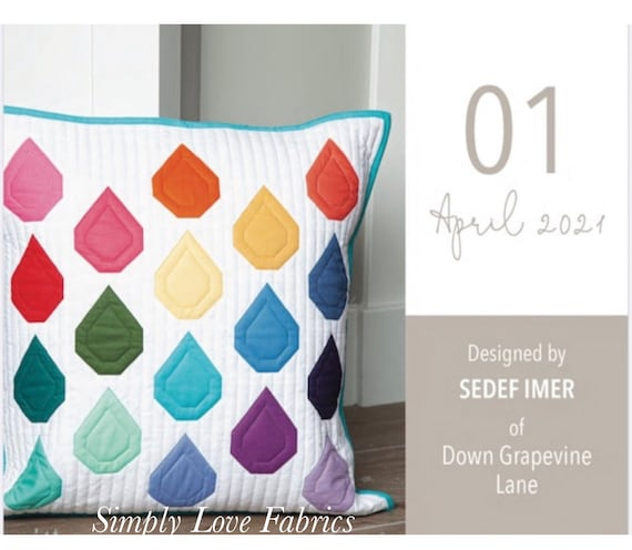"""Pillow Kit of the Month- April- by Sedef Imer for Riley Blake Designs- 20"""" x 20"""""""