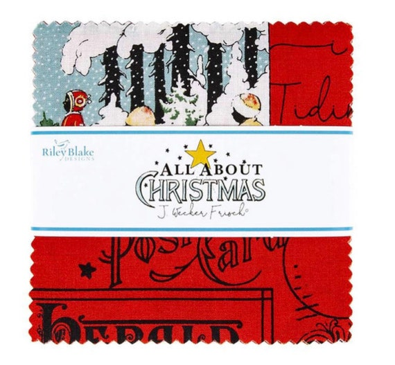 All About Christmas- (5-10180-42 Fabrics) by J Wecker Frisch for Riley Blake Designs