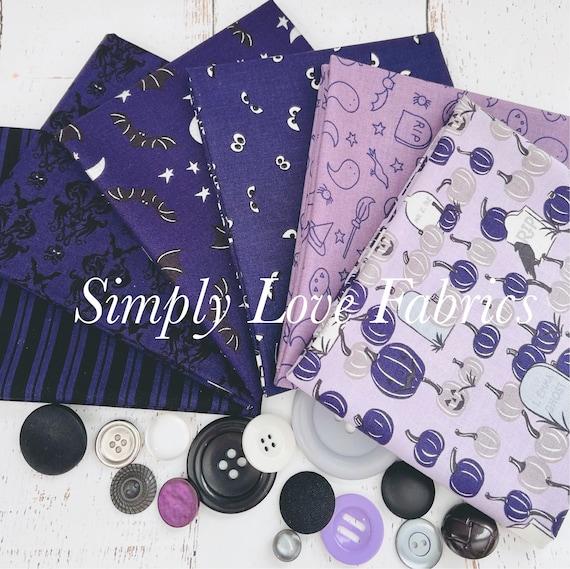 Spooky Hollow- Fat Quarter Bundle (6 Fabrics Purple) by Riley Blake Designs