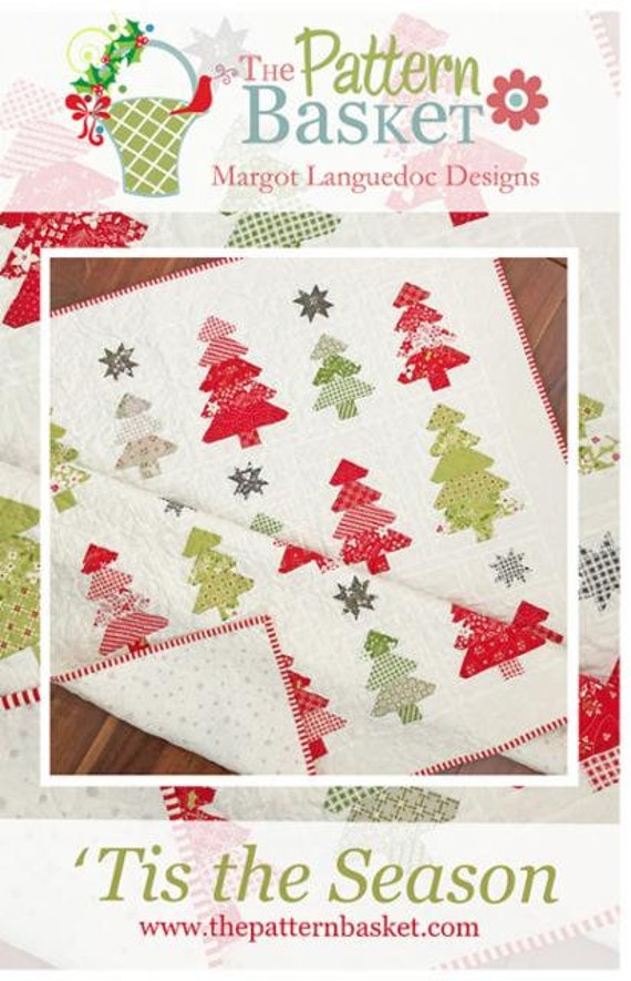 """Tis the Season Paper Quilt Pattern by The Pattern Basket-TPB 2008- Finished Size 56.5"""" x 57.5"""""""