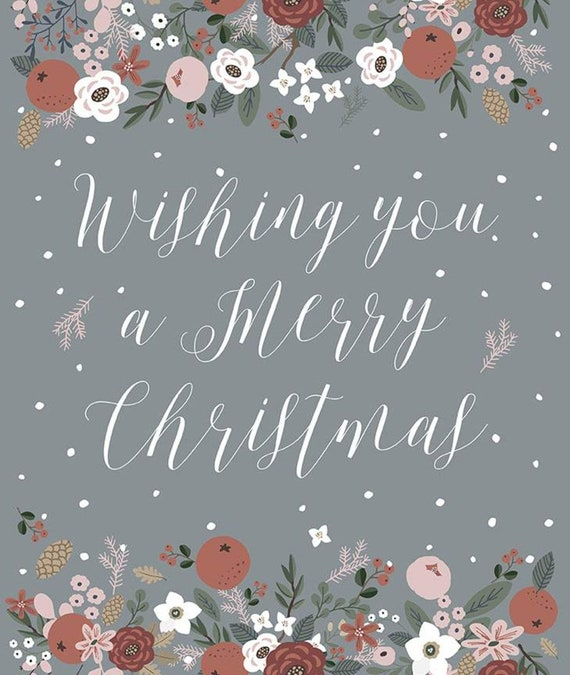 """Warm Wishes -Panel 54"""" x 64""""  (C10787 Stone Panel) by Simple Simon and Company"""