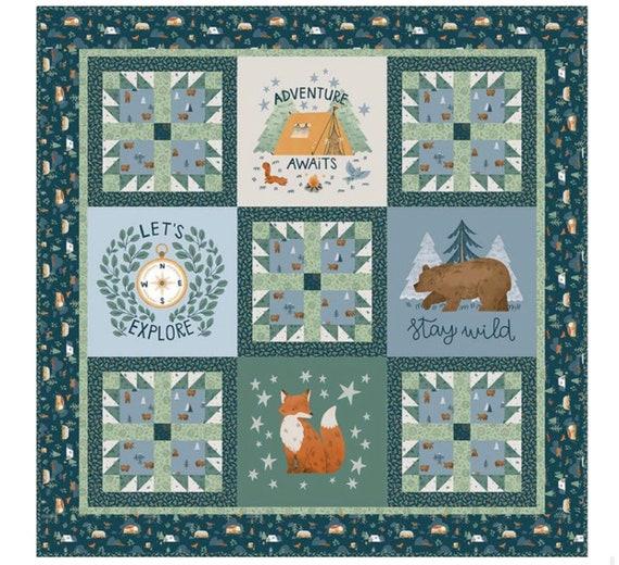 Camp woodland Boxed Quilt Kit- (KTB-20368) by Natàlia Juan Abelló for Riley Blake Designs