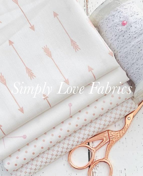 Rose Gold Basics- 1/2 Yard Bundle (4 Fabrics) Sparkle Cotton -by Riley Blake Designs