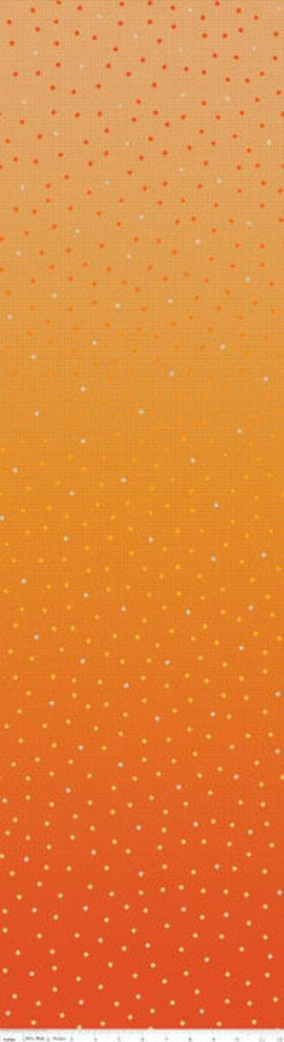 Gem Stones BRIGHTS (1/2 Yard Increments, Cut Continuously) C8350 ORANGE GLOW- by PSD2 for Riley Blake Designs