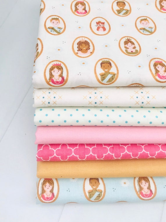 1/2 Yard Bundle (7 Fabrics with Basics) Guinevere by Citrus and Mint Designs for Riley Blake Designs