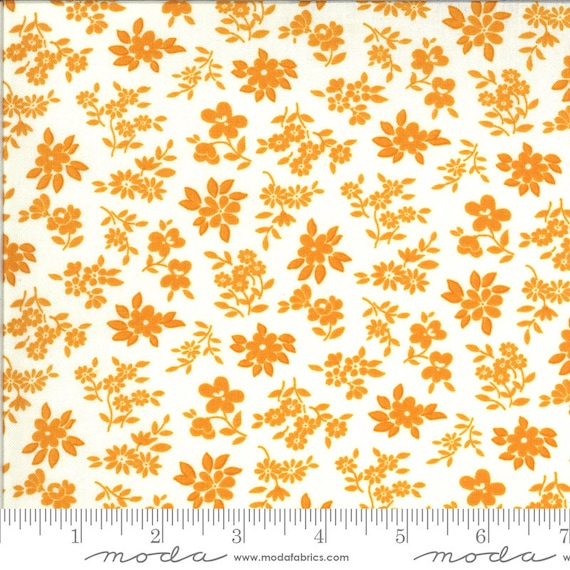A Blooming Bunch- 1/2 Yard Increments, Cut Continuously-40044-31 Cheddar Sweet by Maureen McCormick for Moda