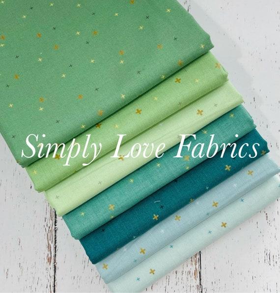 Sparkler- 1/2 Yard Bundle (7 Fabrics With Gold Metallic) by Melissa Mortenson for Riley Blake Designs