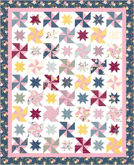 """Play Date Quilt Pattern by Hello Melly Designs for Riley Blake Designs- P151- Finished Size 68"""" x 84"""""""