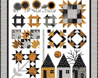 """Autumn Acres Boxed Quilt Kit (Finished Quilt Size 62.5"""" x 64.5"""") using Old Made Fabric by J Wecker Frisch for Riley Blake Designs"""