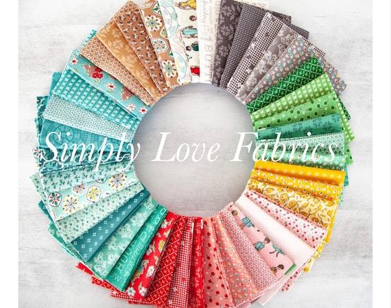 Stitch- Fat Quarter Bundle (FQ-10920-42 Fabrics) by Lori Holt for Riley Blake Designs