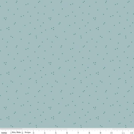 Primrose Hill - 1/2 Yard Increments, Cut Continuously Aqua Seedling - C11065  by Melanie Collette for Riley Blake Designs