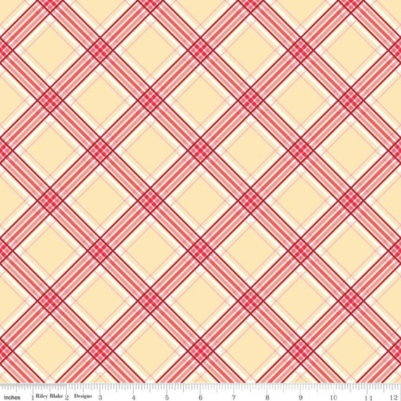 Notting Hill-1/2 Increments, Cut Continuously-(C10204 Yellow Plaid) by Amy Smart for Riley Blake Designs