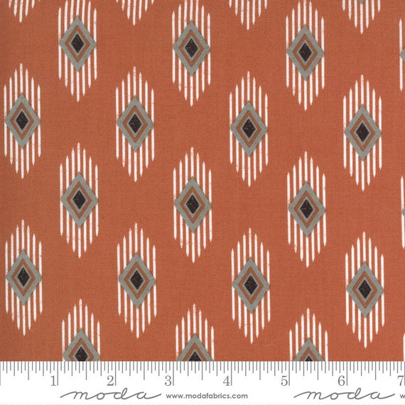 Smoke and Rust- (1/2 Yard Increments, Cut Continuously) Legend 5132-16 Rust - Lella Boutique for Moda