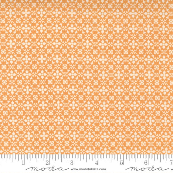 Pumpkins and Blossoms- 1/2 Yard Increments, Cut Continuously  (20426 12 Florence - Pumpkin) by Fig Tree & Co. for Moda