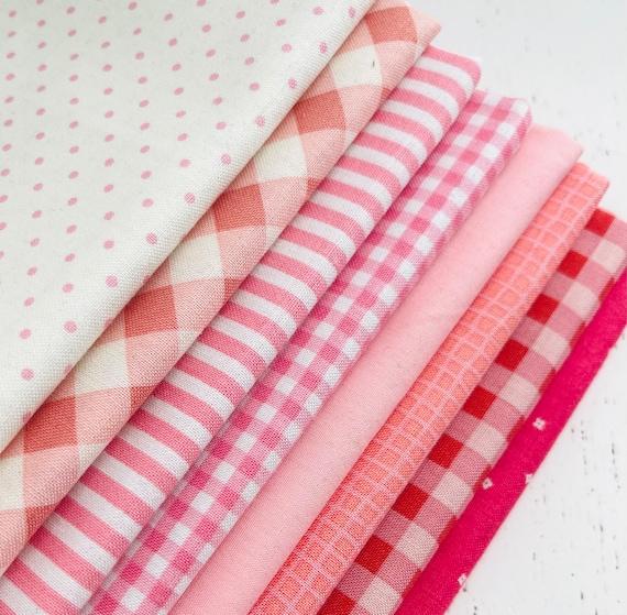 1/4 Yard Bundle (8 Fabrics) Pink Riley Blake Designs