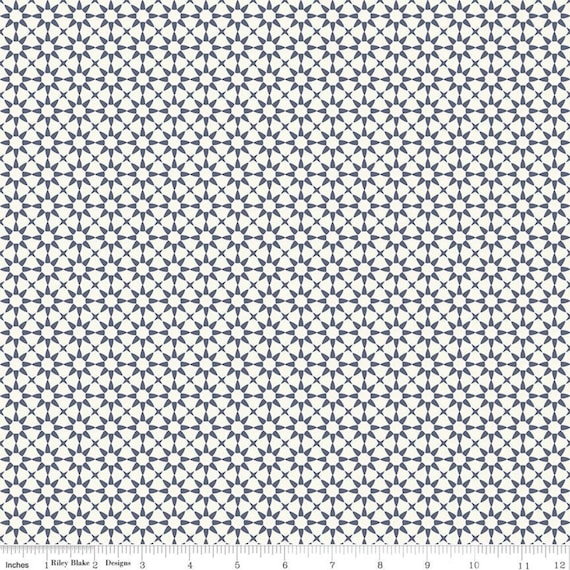 Gingham Foundry -1/2 Yard Increments, cut continuously - Cream Stars - C11135  by My Minds Eye for Riley Blake Designs