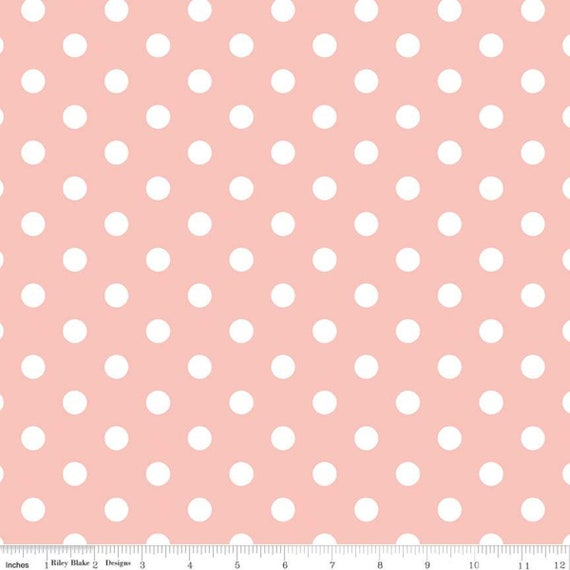 Notting Hill-1/2 Increments, Cut Continuously-(C10203 Pink Dots) by Amy Smart for Riley Blake Designs