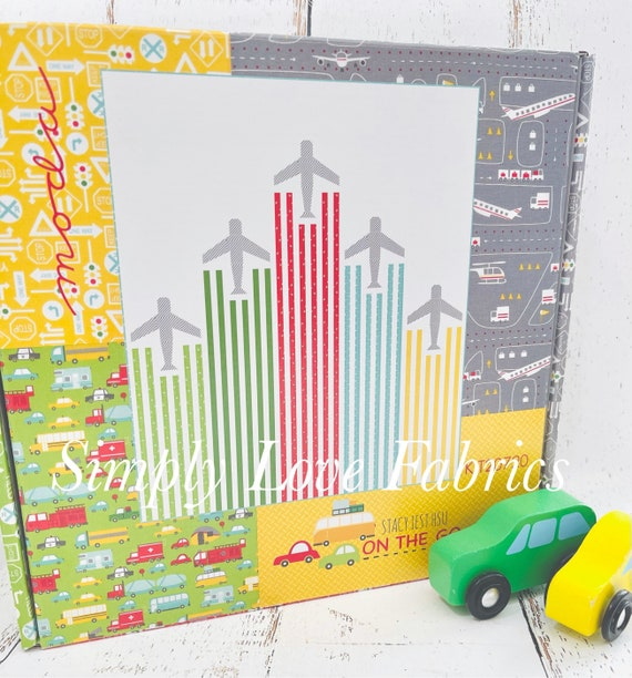 """Let's Fly Boxed Quilt Kit with Pattern (Finished Size 61"""" x 72"""") On the Go- by Stacy Iset Hsu for Moda"""