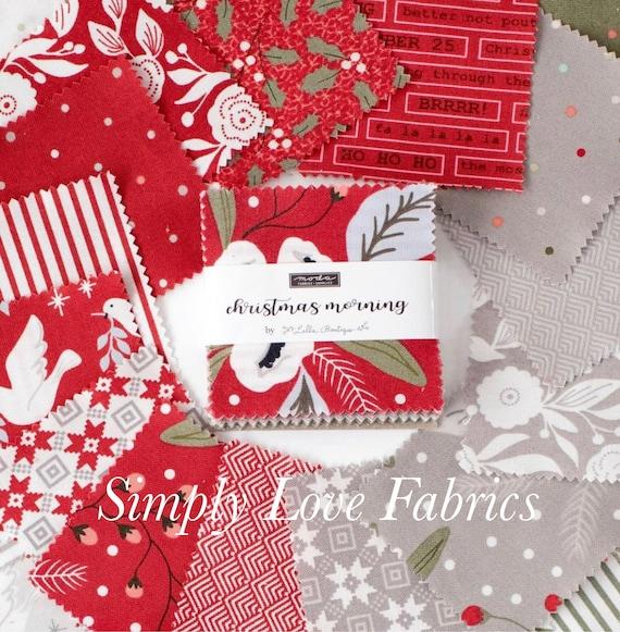 Christmas Morning- MINI Charm Pack (5140MC-42 Fabrics) by Lella Boutique for Moda