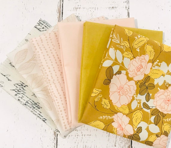 Her and History Mix -Fat Quarter Bundle (6 Fabrics) by Bonnie Christine for Art Gallery Fabrics