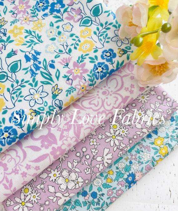 The Deco Dance Collection- 1/2 Yard Bundle (4 Fabrics) Liberty Fabrics for Riley Blake Designs