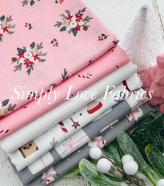 Warm Wishes- 1/2 Yard Bundle (6 Pink/Gray Fabrics) by Simple Simon and Company