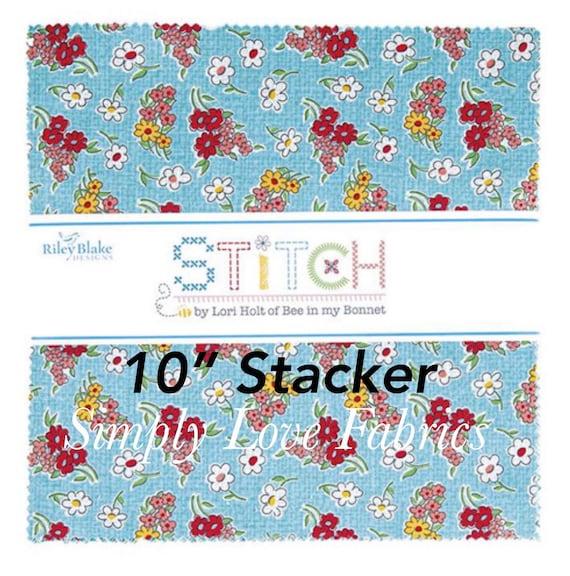 "Stitch- 10"" Stacker (10-10920-42 Fabrics) by Lori Holt for Riley Blake Designs"