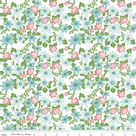 Summer Picnic - 1/2 Yard Increments, Cut Continuously - C10750 White Main by Melissa Mortenson for Riley Blake Designs