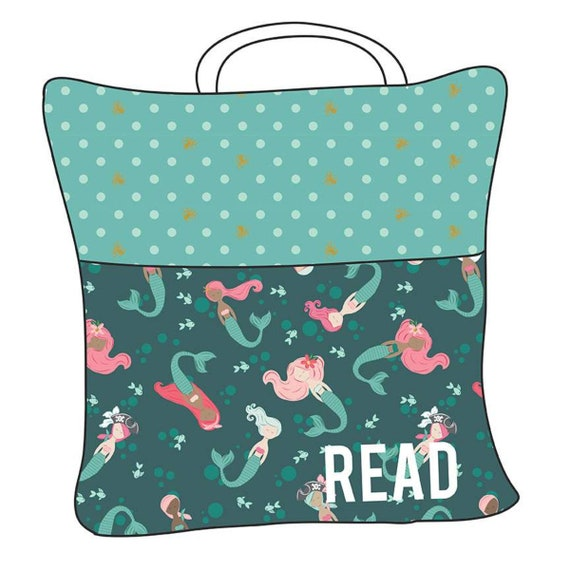 """Reading Pillow Pattern by Melissa Mortenson of Polka Dot Chair- Finished Quilt Size 53"""" x 53"""""""