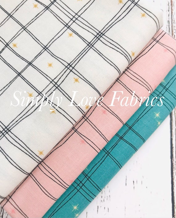 Mod Meow- 1/2 Yard Bundle- Plaid (3 Fabrics) by Amanda Niederhauser for Riley Blake Designs