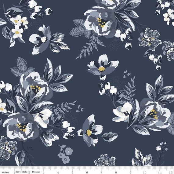 Gingham Foundry - 1/2 Yard Increments, cut continuously - Navy Main - C11130  by My Minds Eye for Riley Blake Designs