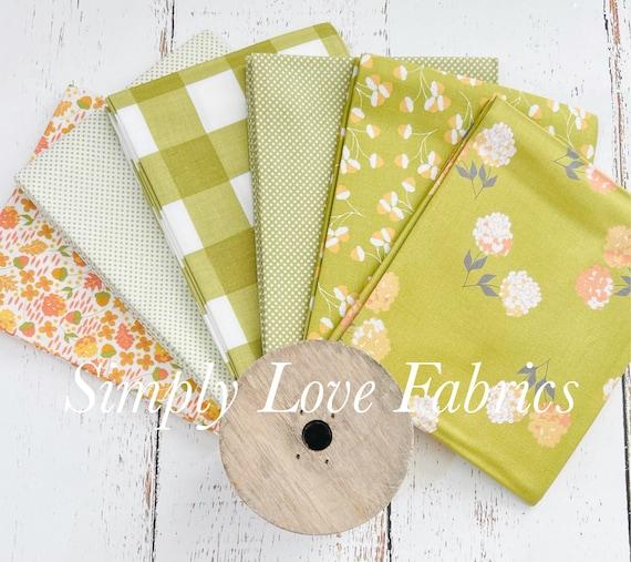 Cozy Up- Fat Quarter Bundle (6 Green Fabrics) by Corey Yoder for Moda Fabrics