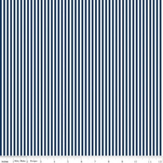 """1/8"""" Stripe by Riley Blake Basic- C495 Navy- 1/2 Yard Increments, Cut Continuously"""
