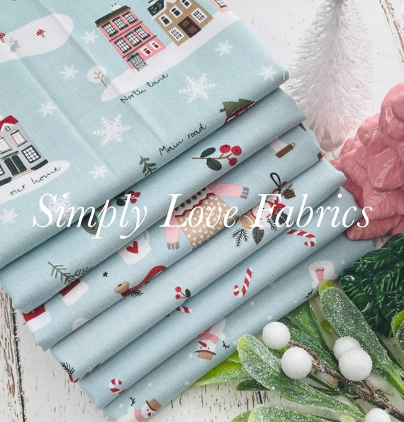 Warm Wishes- 1/2 Yard Bundle (6 Aqua Fabrics) by Simple Simon and Company