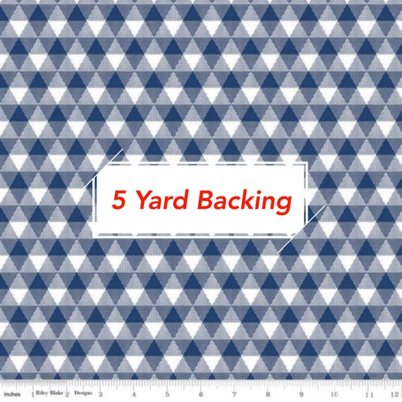 5 Yard Backing-Land of Liberty- (C10563 Triangle Gingham Navy) by My Minds Eye for Riley Blake Designs