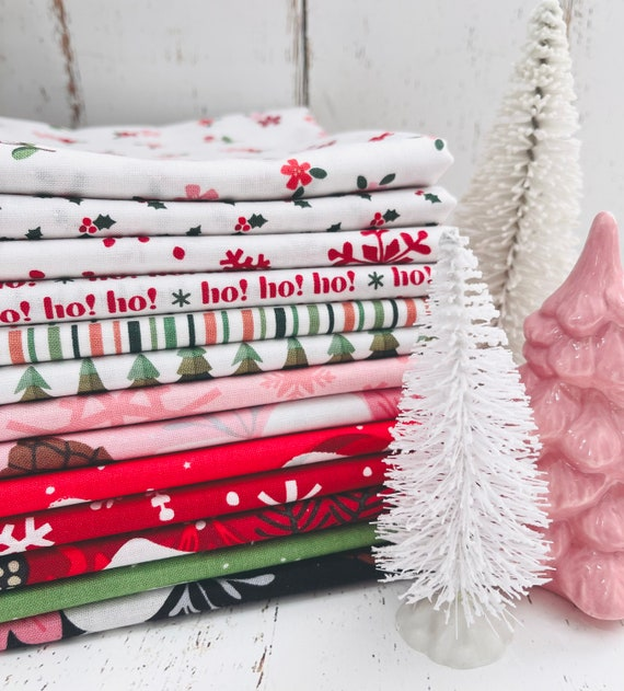 Holly Holiday- 1/2 Yard Bundle (13 Fabrics) by Christopher Thompson for Riley Blake Designs