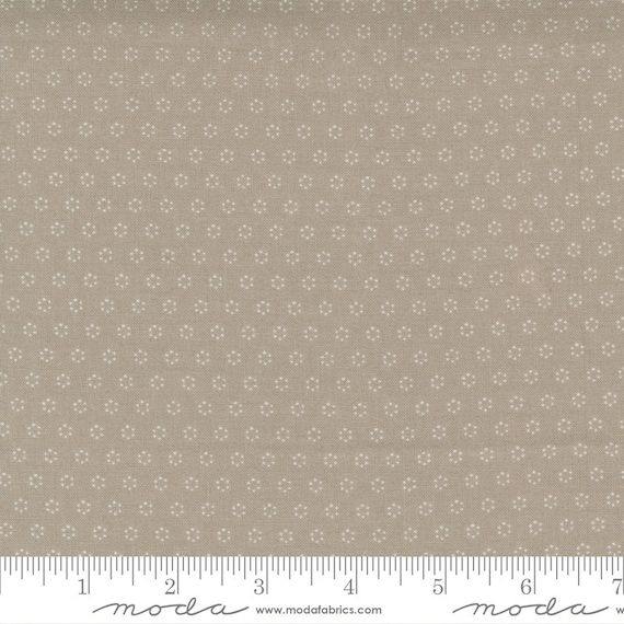 Pumpkins and Blossoms- 1/2 Yard Increments, Cut Continuously  (20428 16 Polka Dot Circle - Pebble) by Fig Tree & Co. for Moda