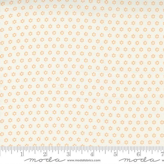 Pumpkins and Blossoms- 1/2 Yard Increments, Cut Continuously  (20428 11 Polka Dot Circle - Vanilla Pumpkin) by Fig Tree & Co. for Moda