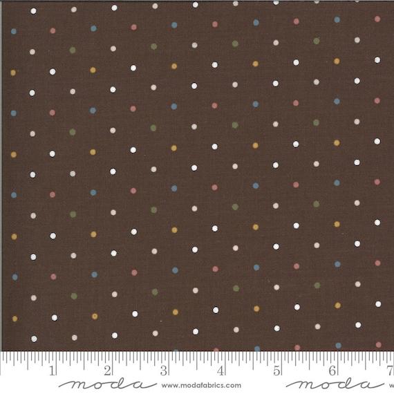 5 Yard Backing- Folktale- Cut Continuously- Magic Dot 5124-18 Coco - Lella Boutique for Moda