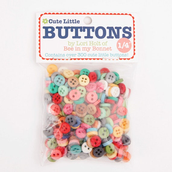 Cute Little Buttons Bag by Lori Holt for Riley Blake Designs - STB-6023- Variety Multi Colored Buttons
