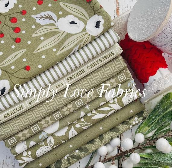 Christmas Morning- 1/2 Yard Bundle (9 Green Fabrics) by Lella Boutique for Moda