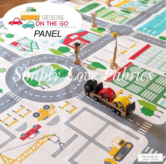 """On the Go Canvas Playmat PANEL- 20720-11CV (36"""" x 60"""") by Stacy Iset Hsu for Moda"""
