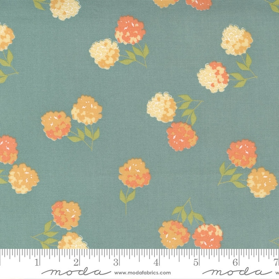 Cozy Up- 1/2 Yard Increments, Cut Continuously (29121 17 Clover Floral Blue Skies) by Corey Yoder for Moda Fabrics