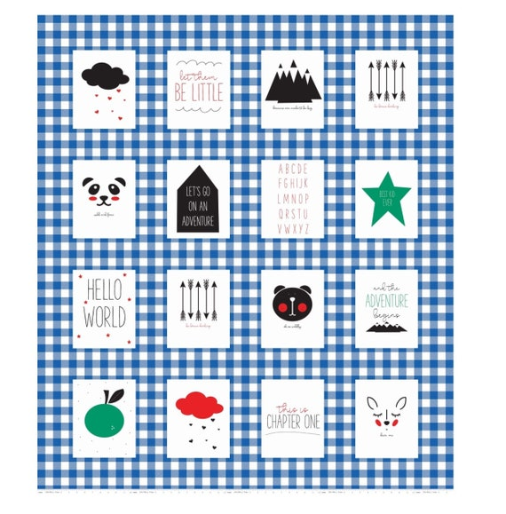 """Blue Panel Let Them Be Little by Simple Simon and Co. for Riley Blake Designs- P7517 Blue Panel Size 53"""" x 61"""""""