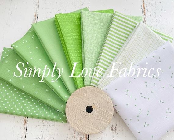 Fall Basics Fat Quarter Bundle- 9 Green Fabrics- Riley Blake Designs
