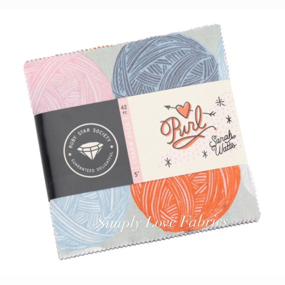 Purl -Charm Pack (RS2029PP- 42 Fabrics) by Sarah Watts for Ruby Star Society