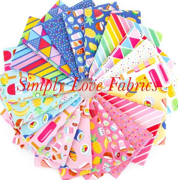 Rainbow Fruit- Fat Quarter Bundle (FQ-10890-20 Fabrics) by Damask Love for Riley Blake Designs