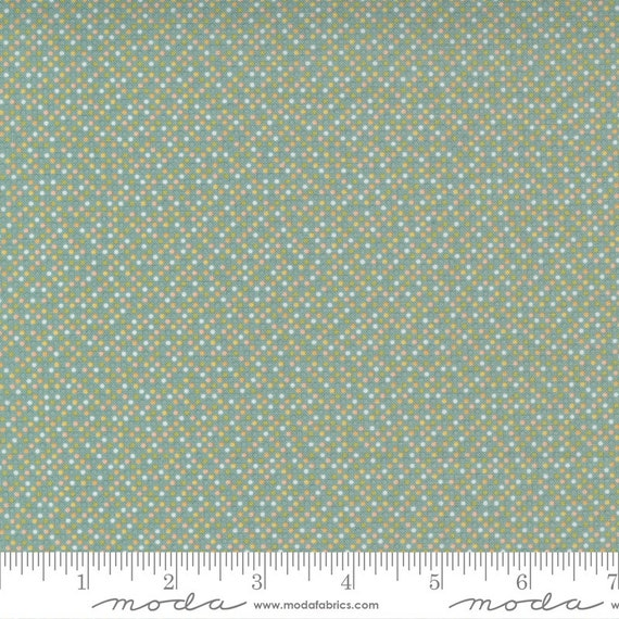 Cozy Up- 1/2 Yard Increments, Cut Continuously (29126 17 Pin Dot Blue Skies) by Corey Yoder for Moda Fabrics