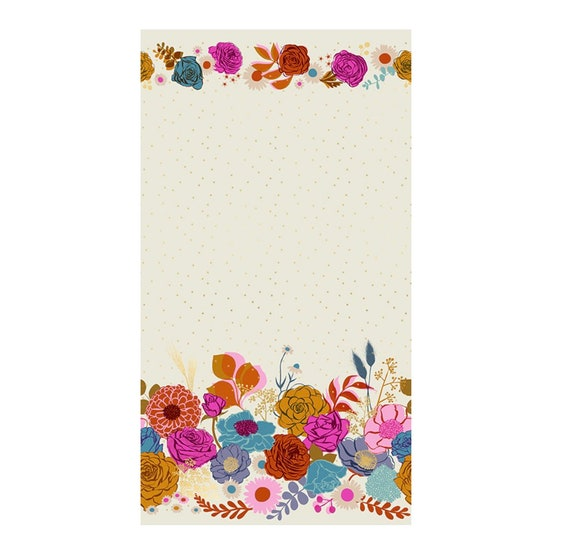 Rise with Metallic- 1/2 Yard Increments, Cut Continuously- Double Shine BORDER- RS0014 Shell by Melody Miller for Ruby Star Society