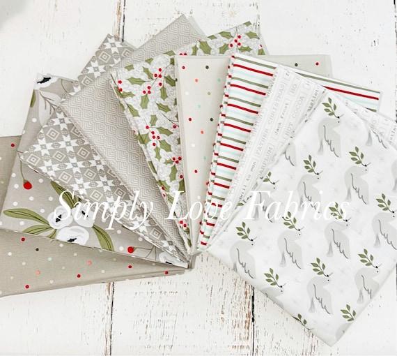 Christmas Morning- Fat Quarter Bundle (9 Gray Fabrics) by Lella Boutique for Moda